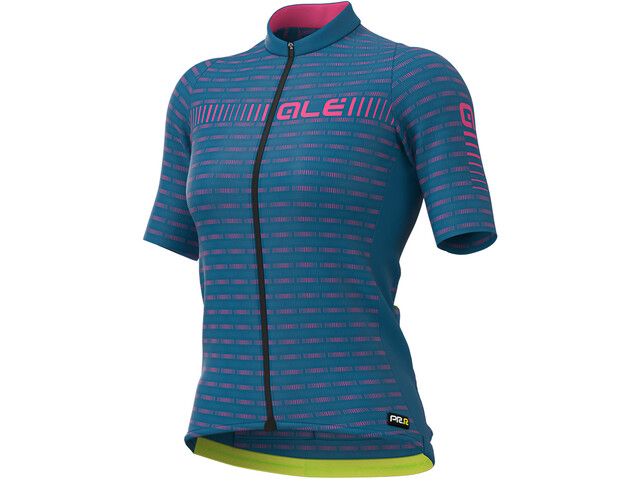 Alé Cycling Graphics PRR Green Road Maillot Manga Corta Mujer, azure blue/fluo pink